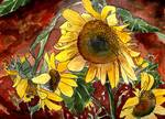 sunflower flower paintings Posters