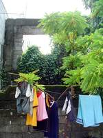 hanging clothes, malabon, philippines