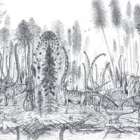 Sauropods of Dashanpu Quarry Art Prints & Posters by Nima Sassani
