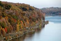 Hudson River Foliage in Autumn
