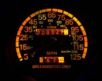 Speedometer night view