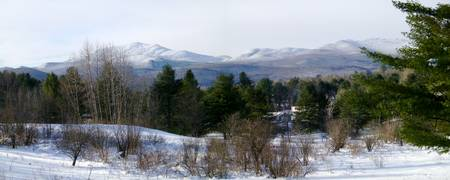 The Green Mountains in Their White Winter Coats -