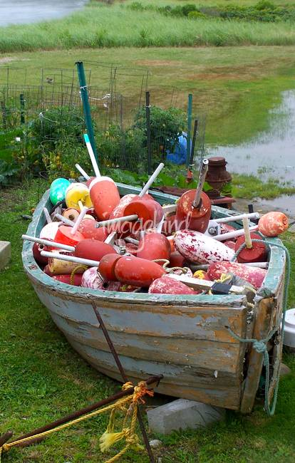 buoys in a boat