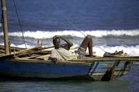 Haiti, north coast, local fisherman