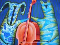 The Cello, by Yuri Kuznetsov, giclee canvas print