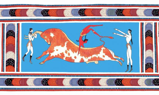 "New Minoan ""Bull Leaping"" Toreador Fresco"