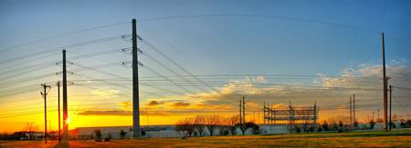 Wells Branch Power Sunset