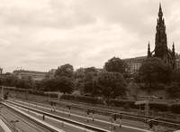 Waverly Platform & the Scott monument