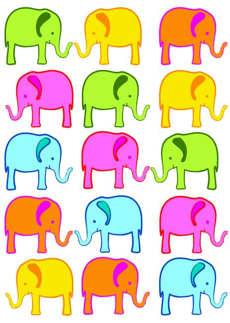 Cute Pics Of Elephants. Cute Elephant Color Palette