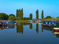 Resting narrowboats