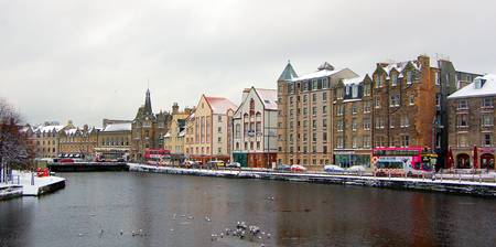 Snow on the Shore in Leith / Winter 2009