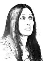 Cher Charcoal Drawing