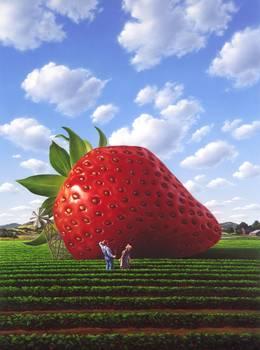 Giant Strawberry By Jerry Lofaro