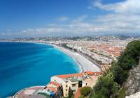 Nice, France, between azure sea and blue sky