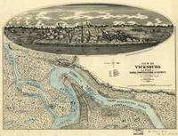 1863 Civil War Map Vicksburg, MS