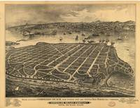 1880's San Diego, CA Birds Eye View Panoramic Map