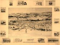 1888 Lakeport, CA Bird's Eye View Panoramic Map