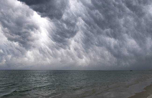 Cape Cod Bay Storm Clouds