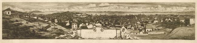 1855 San Francisco, CA Bird's Eye View Panoramic M