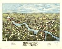 1877 Putnam, CT Bird's Eye View Panoramic Map