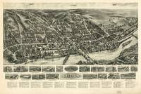 1919 Shelton, CT Bird's Eye View Panoramic Map