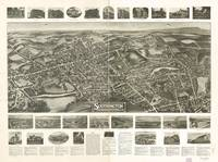 1914 Southington, CT Bird's Eye View Panoramic Map