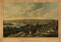 1855 Washington D.C. Georgetown Bird's Eye View Pa