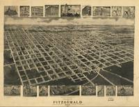 1908 Fitzgerald, GA Bird's Eye View Panoramic Map