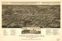 1885 Thomasville, GA Bird's Eye View Panoramic Map