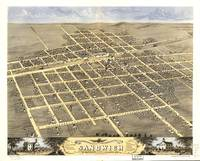 1869 Sandwich, IL Bird's Eye View Panoramic Map