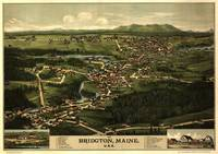 1888 Bridgton, ME Bird's Eye View Panoramic Map