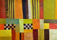 Abstract with Stripes and Checkerboard