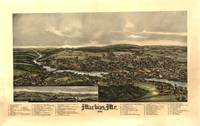 1896 Machias, ME Bird's Eye View Panoramic Map