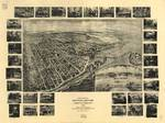 1906 Mountain Lake Park MD Birds Eye Panoramic Map