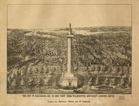 1880 Baltimore, MD Bird's Eye View Panoramic Map
