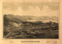 1889 Blackinton, MA Bird's Eye View Panoramic Map