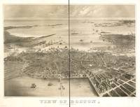 1870 Boston, MA Bird's Eye View Panoramic Map