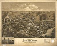 1878 Ashland, MA Bird's Eye View Panoramic Map