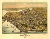 1886 Beverly, MA Bird's Eye View Panoramic Map