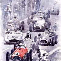 Last Control Maserati 250 F France GP 1954 Art Prints & Posters by Yuriy Shevchuk