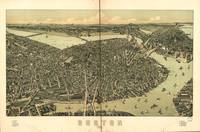 1899 Boston, MA Birds Eye View Panoramic Map