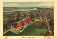 1902 Boston, MA Birds Eye View Panoramic Map