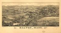 1884 Dalton, MA Bird's Eye View Panoramic Map