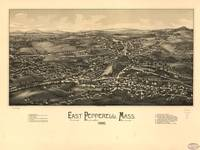 1886 East Pepperell, MA Panoramic Map