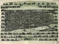 1893 Haverhill, MA Birds Eye View Panoramic Map