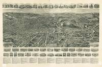 1915 Fitchburg, MA Birds Eye View Panoramic Map