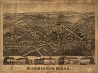 1880 Hopkinton, Bird's Eye View Panoramic Map