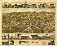 1887 Highlandville, MA Birds Eye Panoramic Map