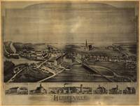 1891 Hebronville, MA Birds Eye View Panoramic Map