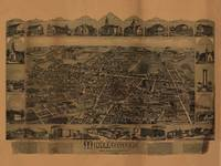 1889 Middleborough, MA Birds Eye Panoramic Map